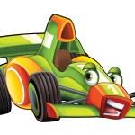 Cartoon sports car racing — Stock Photo #74156797
