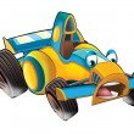 Cartoon sports car racing — Stock Photo #74158911