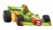 Cartoon sports car racing — Stock Photo