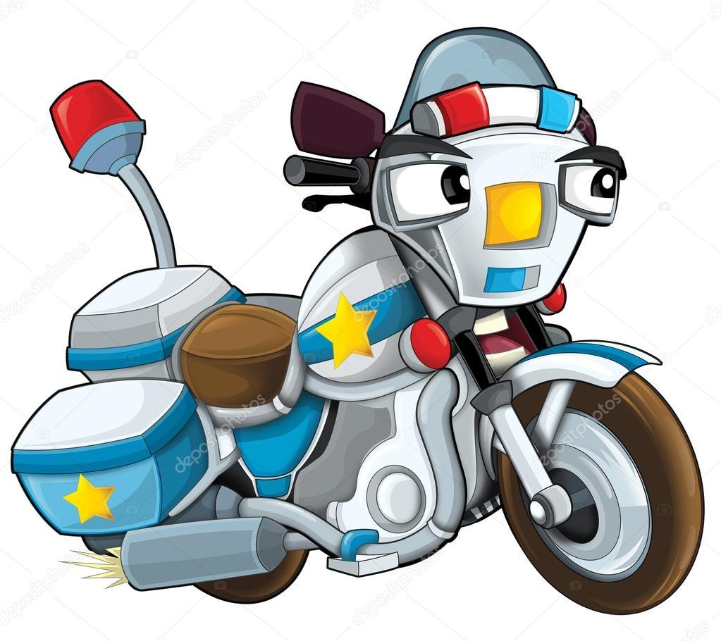 Cartone animato polizia moto — foto stock