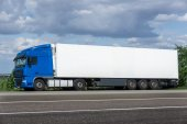 White truck on road — Stock Photo