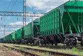 Railroad car for dry cargo — Stock Photo