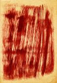 Dark red brush strokes on paper texture — Stock Photo