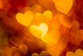 Photo of red and golden hearts boke as background — ストック写真