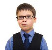 西装的男孩 — 图库照片