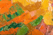 Oil painting abstract brushstrokes on canvas — Stock Photo