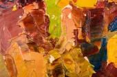 Coups de pinceau peinture à l'huile abstraite — Photo