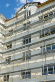 Repair home scaffolding — Stock Photo