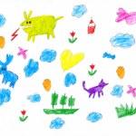 Hand drawn childish object set. childs drawing — Stock Photo #75967053