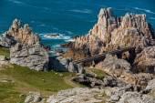 Ushant island rocky coastline — Stock Photo