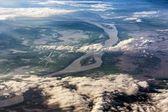 ベトナムのメコン川の航空写真 — ストック写真
