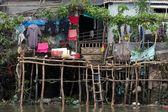 Shanti poor wooden Vietnamese home — Stock Photo