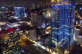 Saigon night cityscape — Stock Photo