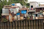 Shanty houses in Saigon — Stock Photo