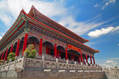Chinese Buddhist monastery in Thailand — Stock Photo