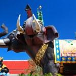 Indra on Erawan elephant and Rahu — Stock Photo #62708303