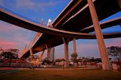Bhumibol or Industrial ring road Bridge  — Stock Photo