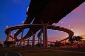 Bhumibol Bridge with twiight sky in Bangkok — Photo
