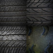 Old tire texture collection — Stock Photo #62879915