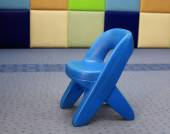 Little kid Plastic Chair or stool  — Stock Photo