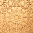 Pattern of flower carved on metal wall  — Stock Photo #68021711