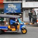 ������, ������: Tuk tuk taxi with passengers