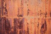Old stain orange zinc wall — Stock Photo