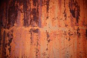 Grunge rusty orange zinc wall — Stock Photo