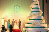Wedding cake reception — ストック写真