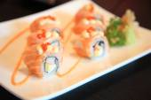 Salmon Sushi roll healthy food — Stock Photo