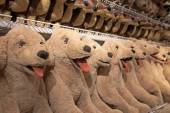 Many Labrador retriever dolls for sale — Stock Photo