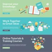 Flat design vector illustration concepts for education — Vector de stock