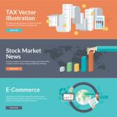 Flat design vector illustration concepts for business and finance — Stock Vector