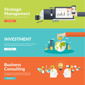 Flat design vector illustration concepts for business, finance, strategic management, investment, corporate finance, conservation of natural resources, consulting, teamwork, great idea — Διανυσματικό Αρχείο