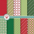 Set of Christmas and New Year vector seamless patterns — Stock Vector #57299305