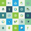 Set of flat design nature icons — Stock Vector #59462439