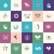 Set of flat design beauty and healthcare icons — Stock Vector #59463393