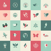Set of flat design beauty and healthcare icons — Stock Vector