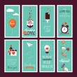 Set of flat design Valentines day greeting cards — Stock Vector #62063423