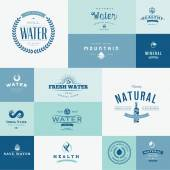 Set of flat design icons for water — Vector de stock