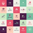 Set of flat design beauty icons — Stock Vector #62820943