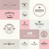 Set of flat design icons for beauty and cosmetics — Stock Vector