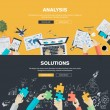 Постер, плакат: Flat design illustration concepts for business analysis strategy and planning finance consulting management team work project management brainstorming research and development