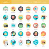 Set of flat design icons for online shopping and e-commerce — Vector de stock
