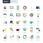 Set of modern flat design business and banking icons for graphic and web designers — Stock Vector