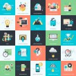Set of flat design vector illustration icons