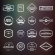 Collection of vintage hand drawn premium quality badges and stickers for designers. — Stock Vector #80412670