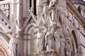 Cathedral Siena-detail — Stock Photo
