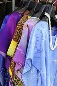 Colorful clothing fashion female — Stock Photo