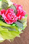 Artificial rose flowers bouquet — Foto Stock